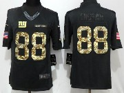 Mens New York Giants #88 Evan Engram Black Anthracite Salute To Service Limited Jersey