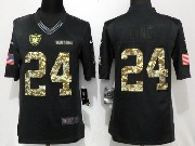 Mens Nfl Oakland Raiders #24 Marshawn Lynch Black Anthracite Salute To Service Limited Jersey