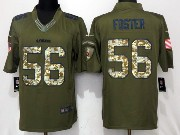 Mens San Francisco 49ers #56 Reuben Foster Green Salute To Service Limited Jersey