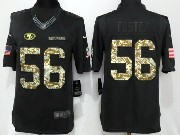 Mens San Francisco 49ers #56 Reuben Foster Black Anthracite Salute To Service Limited Jersey