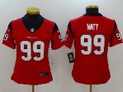 Women Nfl Houston Texans #99 Jj Watt Red Vapor Untouchable Limited Jersey