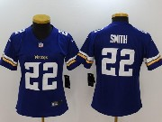 Women   Minnesota Vikings #22 Harrison Smith Purple Vapor Untouchable Limited Jersey