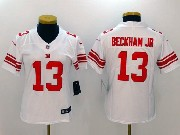 Women  Nfl New York Giants #13 Odell Beckham Jr White Vapor Untouchable Limited Jersey