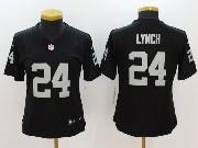 Women Nfl Oakland Raiders #24 Marshawn Lynch Black Vapor Untouchable Limited Jersey