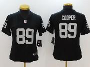 Women Nfl Oakland Raiders #89 Amari Cooper Black Black Vapor Untouchable Limited Jersey
