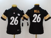 Women Nfl Pittsburgh Steelers #26 Le'veon Bell Black Vapor Untouchable Limited Jersey