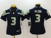 Women Nfl Seattle Seahawks #3 Russell Wilson Blue Vapor Untouchable Limited Jersey