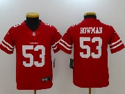 Women San Francisco 49ers #53 Navorro Bowman Red Vapor Untouchable Limited Jersey