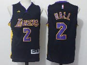 Mens Nba Los Angeles Lakers #2 Lonzo Ball Black Jersey