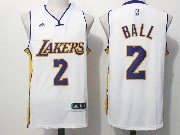 Mens Nba Los Angeles Lakers #2 Lonzo Ball White Alternate Jersey
