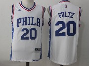 Mens Nba Philadelphia 76ers #20 Markelle Fultz Home White Jersey