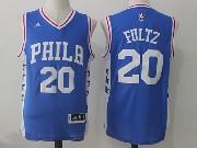 Mens Nba Philadelphia 76ers #20 Markelle Fultz Road Blue Jersey