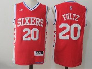 Mens Nba Philadelphia 76ers #20 Markelle Fultz Alternate Red Jersey