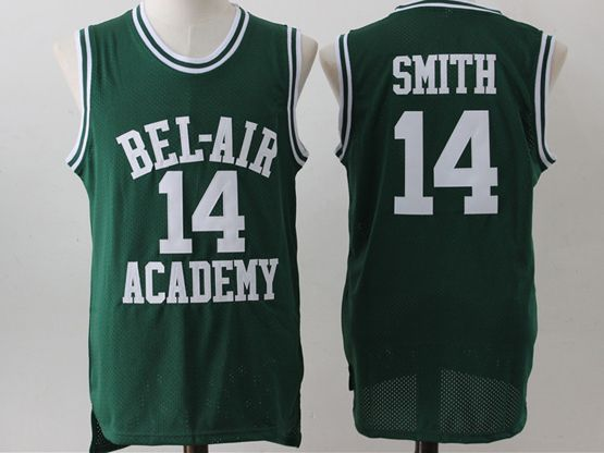 Mens Nba Movie The Fresh Prince Of Bel-air Academy #14 Will Smith Green Jersey
