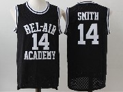 Mens Nba Movie The Fresh Prince Of Bel-air Academy #14 Will Smith Black Jersey