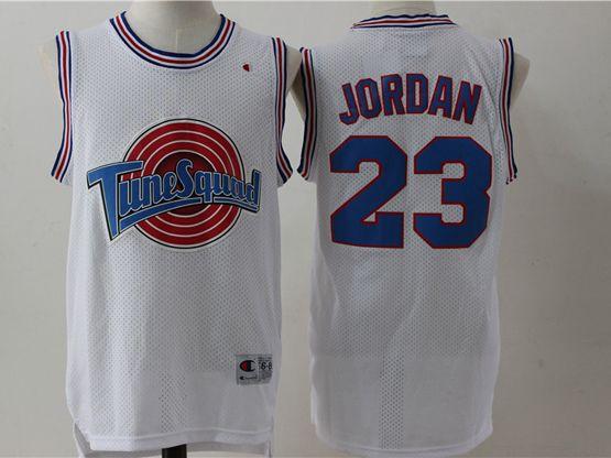 Mens Nba Space Jam Tune Squad #23 Michael Jordan White Jersey
