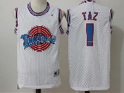 Mens Nba Space Jam Tune Squad ! Taz White Jersey
