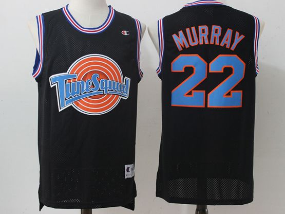 Mens Nba Space Jam Tune Squad #22 Murray Black Jersey