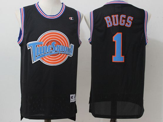 Mens Nba Space Jam Tune Squad #1 Bugs Black Jersey