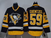 Mens Reebok Pittsburgh Penguins #59 Jake Guentzel Black Premier Jersey