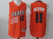 Mens Nba Phoenix Suns #11 Josh Jackson Orange Alternate Jersey