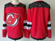 Mens Adidas Nhl New Jersey Devils Blank Red Home Jersey
