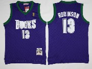 Mens Nba Milwaukee Bucks #13 Malcolm Brogdon Purple Hardwood Classic Swingman Jersey