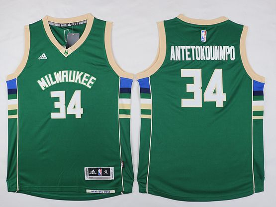 Mens Nba Milwaukee Bucks #34 Giannis Antetokounmpo Green Road Jersey