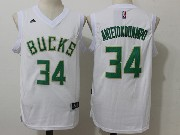 Mens Nba Milwaukee Bucks #34 Giannis Antetokounmpo White Fashion Jersey