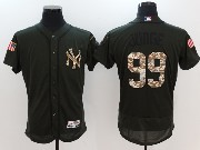 Mens Majestic New York Yankees #99 Aaron Judge Green Fashion 2016 Memorial Day Jersey
