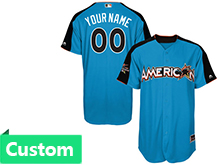 Mens Women Youth 2017 Mlb All Star Game Custom American Light Blue Cool Bass Jersey