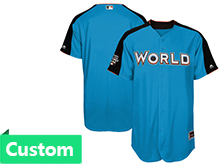 Mens Women Youth 2017 Mlb All Star Game Custom World Light Blue Cool Bass Jersey