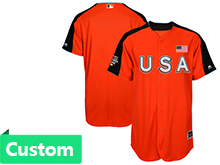 Mens Women Youth 2017 Mlb All Star Game Custom Usa Orange Cool Bass Jersey