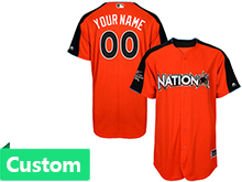 Mens Women Youth 2017 Mlb All Star Game Custom National Orange Cool Bass Jersey
