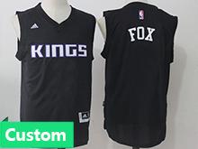 Mens Women Youth Nba Sacramento Kings Custom Made Black Jersey