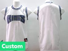 Mens Women Youth Nba Sacramento Kings Custom Made White Jersey