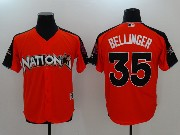 Mens Mlb Los Angeles Dodgers #35 Cody Bellinger 2017 Mlb All Star Game National Orange Cool Bass Jersey