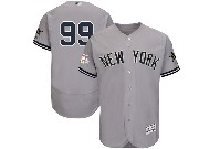 Mens Mlb New York Yankees #99 Aaron Judge Grey All Star Flex Base Jersey