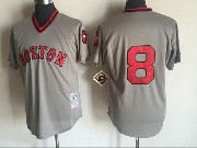 Mens Mlb Boston Red Sox #8 Carl Yastzremski Gray Pullover Throwback Jersey