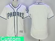 Mens Majestic Mlb San Diego Padres Custom Made White Flex Base Jersey
