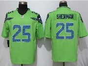 Mens Nfl Seattle Seahawks #25 Richard Sherman Green Game Jersey