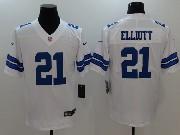 Mens Dallas Cowboys #21 Ezekiel Elliott White Vapor Untouchable Limited Jersey