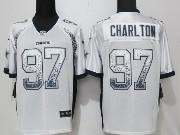 Mens Nfl Dallas Cowboys #97 Taco Charlton White Drift Fashion Elite Jersey