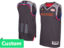 Mens Women Youth Adidas Cleveland Cavaliers (custom Made) Black 2017 Nba All-star Game Swingman Jersey