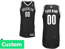 Mens Women Youth Nba Brooklyn Nets (custom Made) Black Revolution 30 Mesh Jersey