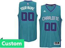 Mens Women Youth Nba Charlotte Hornets (custom Made) Light Blue Revolution 30 Mesh Jersey