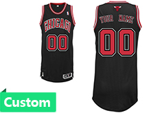 Mens Women Youth Nba Chicago Bulls (custom Made) Black Revolution 30 Mesh Jersey