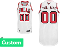 Mens Women Youth Nba Chicago Bulls (custom Made) White Revolution 30 Mesh Jersey