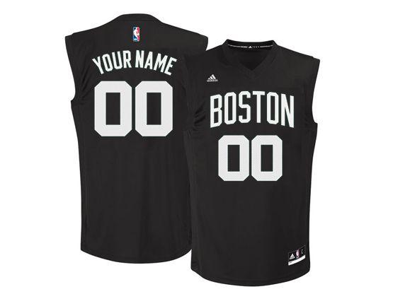 Mens Women Youth Nba Boston Celtics Custom Made Boston Black Jersey