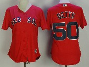 Mens Mlb Boston Red Sox #50 Mookle Bett Red Cool Base Jersey